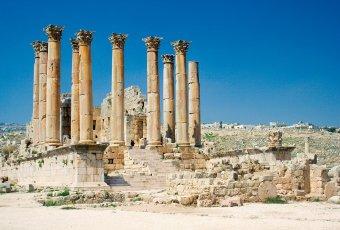Jordanien – Jerash Artemis Tempel